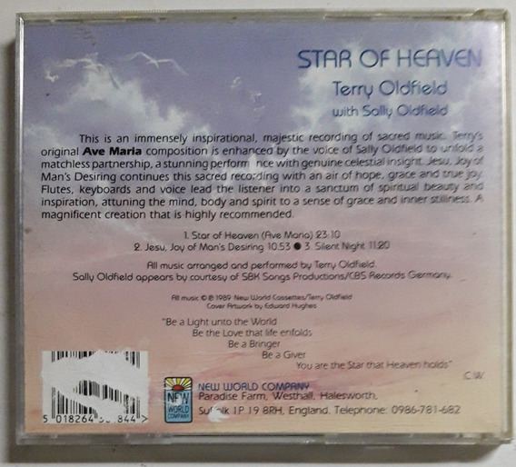 Terry Oldfield $ Sally Oldfield Cd Star Of Heaven 1989 Orig