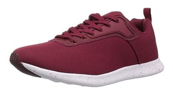 Steve Madden M-karl Tenis Zapato Para Hombre Burgundy Micro.