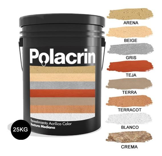 Revestimiento Acrilico Textura Gruesa 25kg Polacrin Int/ext