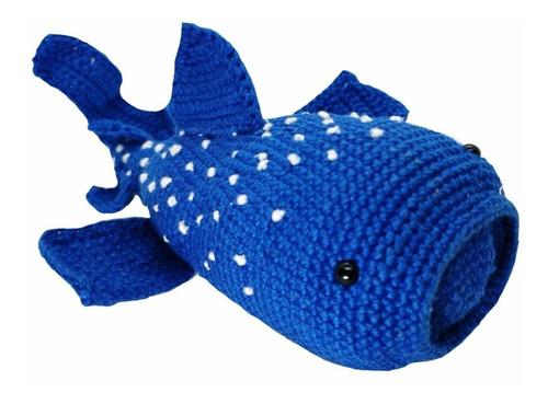 Imagen 1 de 2 de Amigurumi Tiburón Ballena Hecho A Mano En Crochet