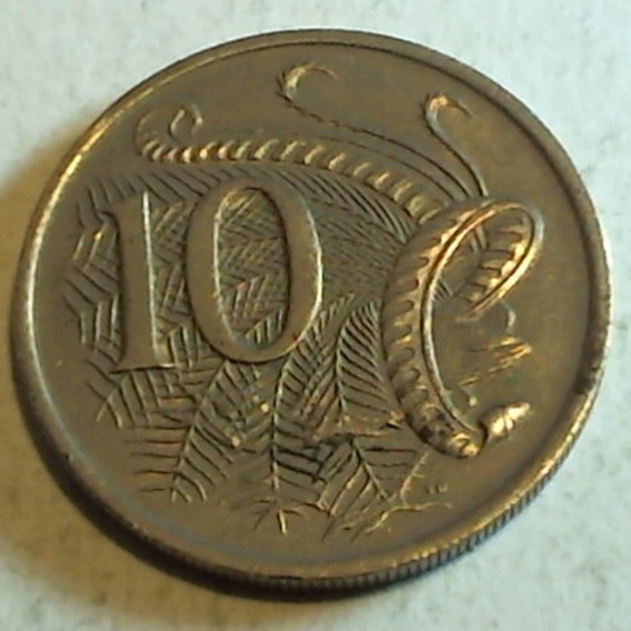 Australia - Moneda De 10 Cents. - Año: 1967
