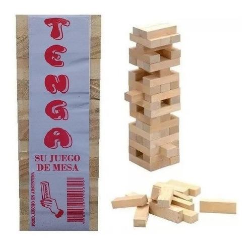 20 Juegos D Mesa Jenga 33 Piezas Yenga Tenga Torre Tembleque