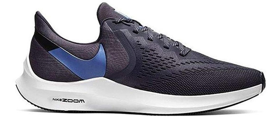 Zapatillas Nike Zoom Winflo 6 Gr/az Talles Grandes Aq7497009