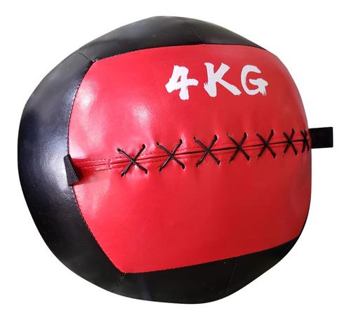 Wall Ball 4 Kg / Balón Medicinal 4 Kg Cuero Pu Crossfit