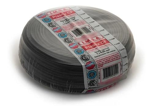 Imagen 1 de 3 de Cable Unipolar 4mm Rollo 100 Metros Negro Imsa Plastix Cf