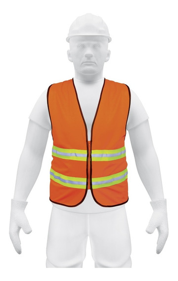 Chaleco De Seguridad Con Cierre, Naranja B13473