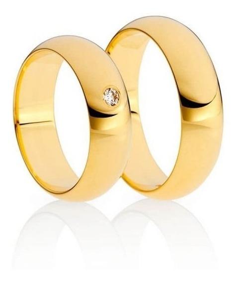 Aliança De Casamento Em Ouro Amarelo 18k 750 5mm