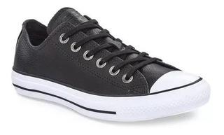 Zapatillas Converse All Star De Cuero Negras
