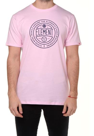 Remera M/c Element Token Tee Rosa Hombre