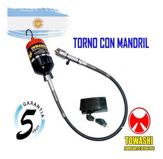 Torno Colgante Mandril Ind. 0 A 10mm + 5 Años Gar.+ Env, S/c