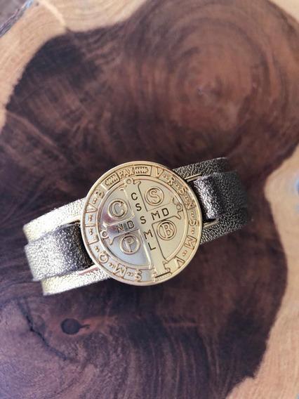 Bracelete Medalha São Bento