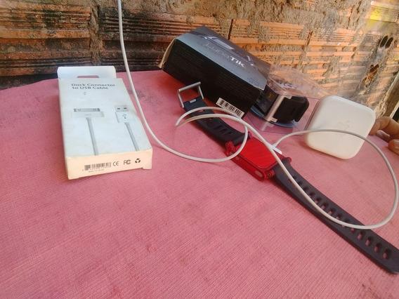 iPod Nano 6 Red Edtion 8gb+ 2 Pulseiras+fone Original+carreg