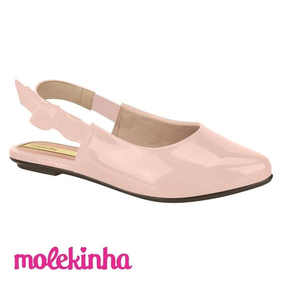 Sapatilha Infantil Molekinha Rosa Verniz Fresh Neo 2506524