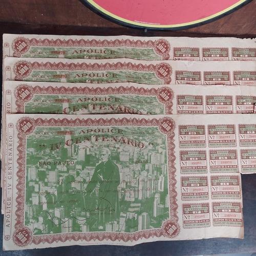 Apólice Iv Centenário De São Paulo 500,00 Cruzeiros 1951 C/4