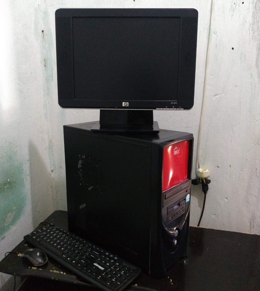Computador Pc Casa Escritório Detalhe Minimo Monitor...