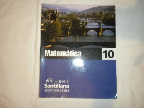 Matematica 10 Puente Santillana Sin Escribir