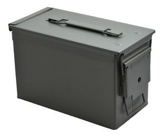Caixa Multiuso 30x19x15cm Munição Equipamento Metal Avb As50