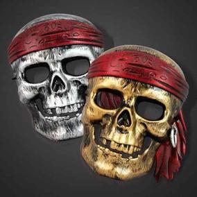 Máscara Caveira Pirata Carnaval Festa Club Halloween Aeio@