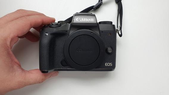Câmera Mirrorless Canon Eos M5 Semi-nova Mais Lente 15-45 Mm