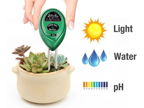 Medidor Ph + Temperatura + Luz Para Jardin Siembra Huerto