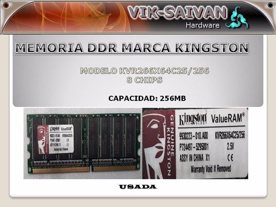 Memoria Ddr Kingston 256mb Pc-2100 266mhz 8 Chips 9