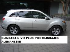 Acura Mdx Blindada Niv 3 Plus Wba Alemanes 2013 (nueva)