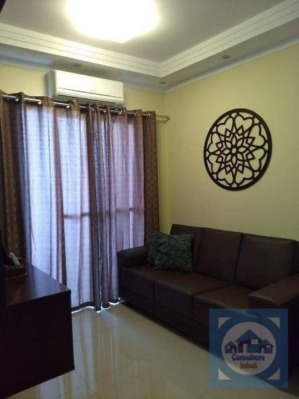 Apartamento Com 2 Dormitórios À Venda, 53 M² Por R$ 265.000 - Areia Branca - Santos/sp - Ap4103
