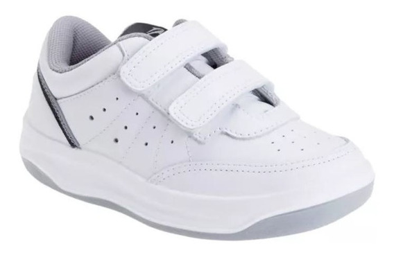 Zapatillas Topper X-forcer Kids Velcro - Blanco/gris-23589