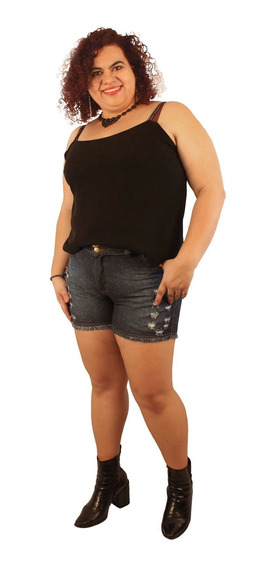 Shorts Jeans Plus Size Lithiun Stone Destroyed 44 Ao 54