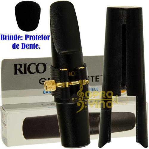 Imagem 1 de 10 de Boquilha Completa Sax Barítono Graftonite Rico Royal B7