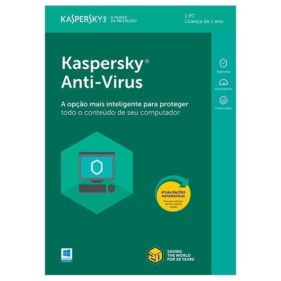 Kaspersky Anti-virus 2019 - 1 Pc 1 Ano Original