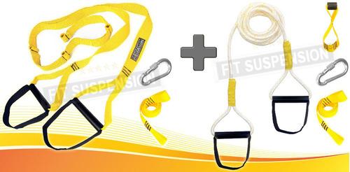 Fita De Suspensão + Corda De Suspensão Tipo Fit Suspension