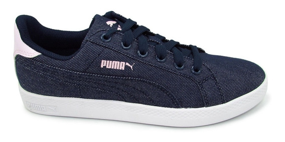 Tenis Puma Smash Wns Denim 361170 01 Peacot Azul