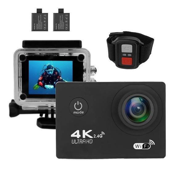 Mini Câmera 4k Wifi 2.0 Ltps 1080p Esportiva Prova Dagua