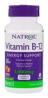 Vitamina B12 5000 Mcg 100 Tabs Natrol Val 09/2020