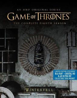 Game Of Thrones Temporada 8 Steelbook 4k Ultra Hd + Blu-ray