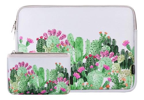 Funda Cactus Para Laptop De 13  Con Bolsa Para Accesorios