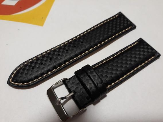 Pulseira 20mm Modelo Tommy Em Fibra De Carbono - Últimas