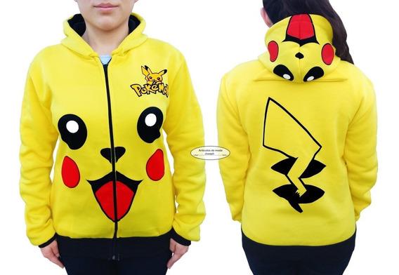 Hoodie Pikachu Pokemon Sudadera Chamarra Envio Gratis !!!