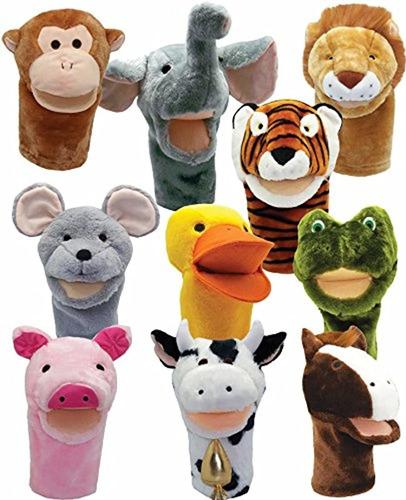 Imagen 1 de 6 de Marioneta De Animales (10 Unidades)