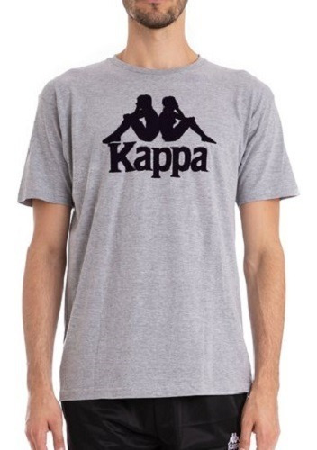 Remera Kappa 222 Banda Estessi Slim Grey Md Mel 941