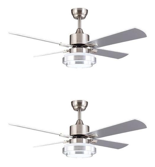 Ventilador Techo Luz Led 18w Control Remoto Mod 8723 X2 Time