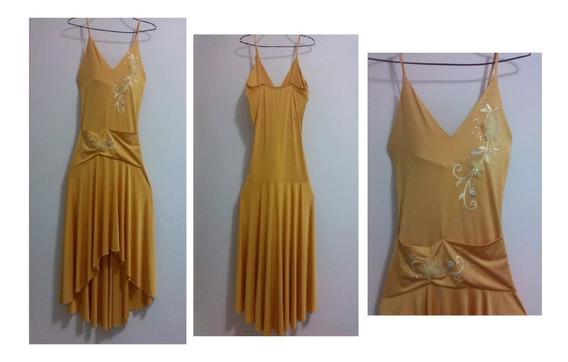 Vestido De Fiesta Amarillo Talla S. Totalmente Nuevo!!!...