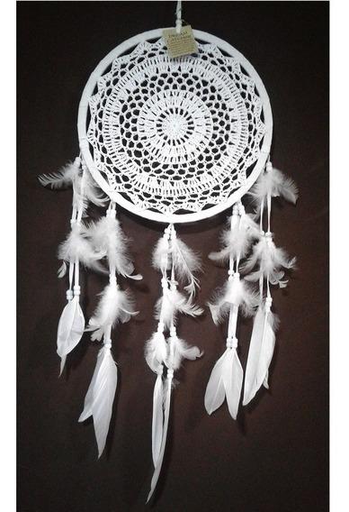 Atrapa Sueños Blanco O Natural Con Plumas - Dreamcatcher