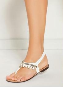 Sandália Rasteirinha Preta E Branca Fechada Em Elástico Moda