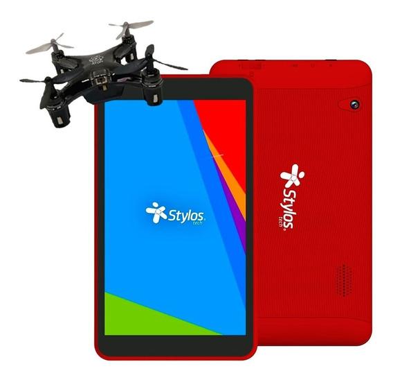 Tablet Stylos 7 Quadcore 8gb Microsd 32gb + Drone