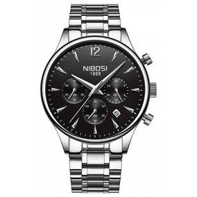 Relógio Masculino Original Nibosi Aço Inoxidável
