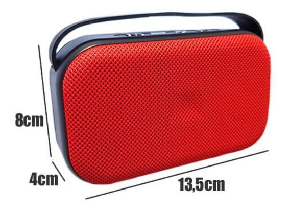 Caixa De Som Portátil Usb Bluetooth Usb P2 5w Rádio Fm Sd