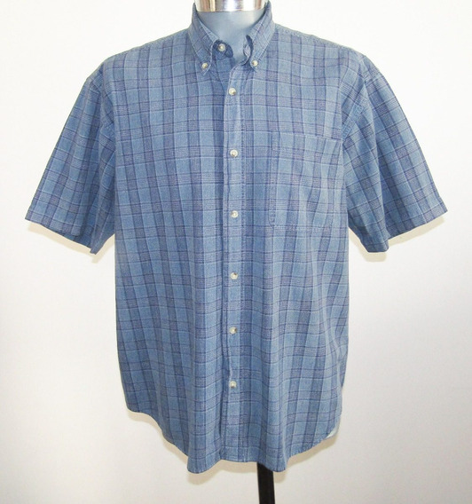 Camisa A Cuadros Talla Mediana 100% Algodon