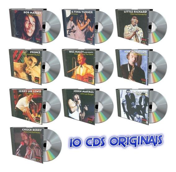 Rock Coleção Altaya 10 Cds Originais Prince Bob Marley Bill